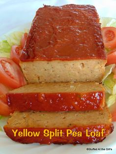 Stuffed At the Gill's: Yellow Split Pea Loaf Yellow Split Pea Recipe, Green Split Peas, Pea Recipes, Vegetarian Recipes, Vegan Vegetarian, Vegan Meatloaf, Dry Bread Crumbs, Vegan Options, Recipe Using