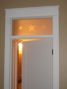 Our master bath door will look like this - minus the stars - just clear glass. I might add a pane grid later but for now just want clear glass.