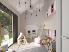 Warszawa, dom WAW 450m2, projekt Ola Wołczyk Dollhouses, Loft, Bed, Interior, Furniture, Home Decor, Decoration Home, Stream Bed, Indoor