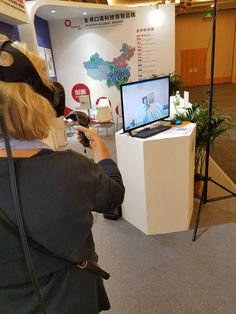 Trying out a virtual reality headset Virtual Reality Headset, Educational Technology, Instructional Technology