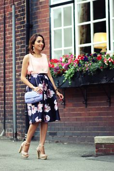 That Flower Touch By Preppy Fashionist Womens Fashion Casual Summer, Black Women Fashion, Fashion Over 40, Women's Fashion Dresses, Street Style Women, Summer Chic, Soft Summer, Modest Outfits, Street Chic