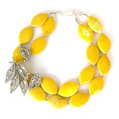 Bright Yellow - by Elva Fields.My favorite color! Diy Jewelry, Jewelery, Jewelry Accessories, Fashion Jewelry, Jewelry Making, Modern Jewelry, Jewelry Trends, Charm Jewelry, Handmade Jewelry
