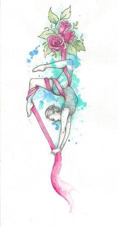 aerial silk by Voodoo-kiss.deviantart.com on @DeviantArt