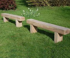 solid wooden timber tables, outdoor garden furniture and picnic tables Railway Sleepers Garden, Oak Sleepers, Garden Landscape Design, Small Garden Design, Garden Planter Boxes, Planters, Planter Bench, Outside Benches, Garden Power Tools