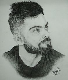 Virat Kholi great and beautiful drawing Pencil Sketch Portrait, Pencil Sketch Drawing, Realistic Pencil Drawings, Dark Art Drawings, Portrait Sketches, Pencil Art Drawings, Art Drawings Sketches, Love Drawings, 3d Sketch