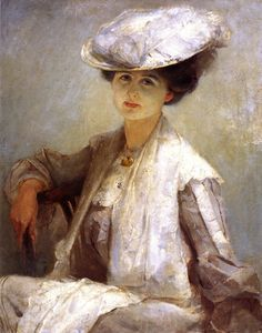 An image of Grey lady (Mrs Ince) by Tom Roberts, Australian 19 th century painter Australian Painters, Australian Artists, Impressionist Landscape, Lady Grey, Art Database, Paintings For Sale, Vintage Paintings, Oil Paintings, Canvas Art Prints