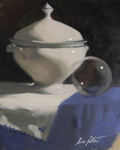 Tureen and the Orb by Luisa Albert  Copyright remains with the artist.  #luisaalbert #francisilesgallery