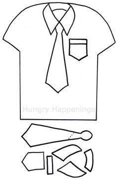Shirt and tie template