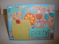 Party Pineapple Card. Available on my Etsy!