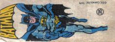 Batman - Figurinhas da Marvel no chiclete - Anos 80