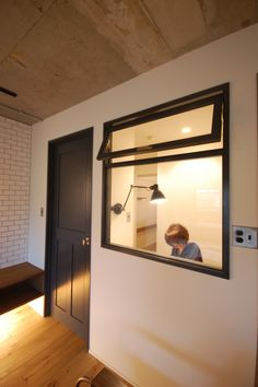 This is a great idea for a small office. H & M Home, Private Room, New Home Designs, Small Rooms, Office Interiors, Windows And Doors, My Dream Home, Home Interior Design, New Homes