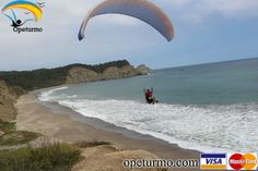 Paragliding Puerto Lopez Ecuador  Flying over the beaches