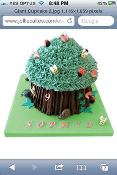 Giant cupcake - woods/storybook