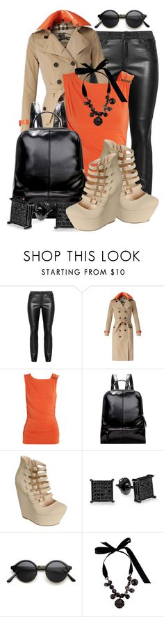 """""""Burberry Patent Leather Detail Gabardine Trench Coat (3)"""" by queenrachietemplateaddict ❤ liked on Polyvore featuring Burberry, MICHAEL Michael Kors and Lanvin"""