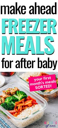I had it all planned - make ahead freezer meals, hospital bag, birth plan. But one thing I'm glad for is the healthy Plan Ahead Meals, Make Ahead Freezer Meals, Freezer Recipes, Freezer Cooking, Cooking Tips, Raw Food Recipes, Healthy Recipes, Drink Recipes, New Mom Meals