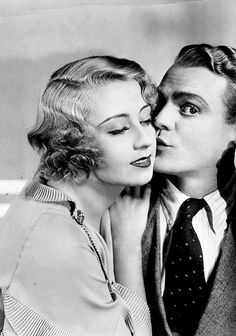James Cagney and Joan Blondell in Footlight Parade, 1933 (how cute is this?!)