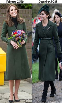 Kate Middleton green coat @Polaris/Polaris