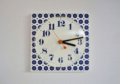 Vintage Wall Clock Made in Germany by oppning on Etsy