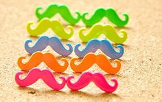 moustache ear studs!