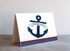 Nautical Anchor Thank You Card