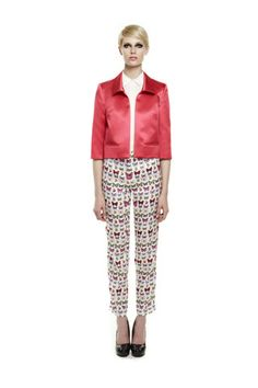 Printed pants at Erin Fetherston