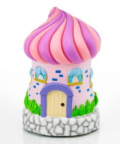 Take a look at this Pink Fairy House LED Statue/Night-Light by Exhart on #zulily today!
