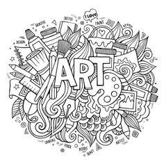 Doodle art coloring pages doodle coloring pages dining doodles Doodle Coloring, Free Coloring, Coloring Book Pages, Printable Coloring Pages, Coloring Sheets, Free Doodles, Doodle Pages, Doodle Art Drawing, Cute Doodle Art
