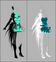 Outfit design - 87 and 88- on hold by LotusLumino.deviantart.com on @deviantART