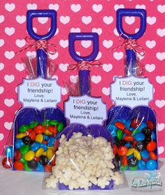 I DIG YOU! party favors -- so creative and fairly inexpensive