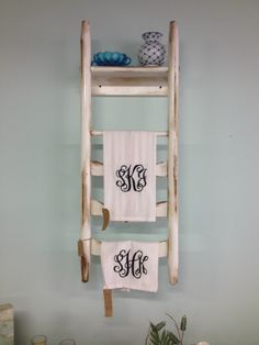 Old chair towel holder