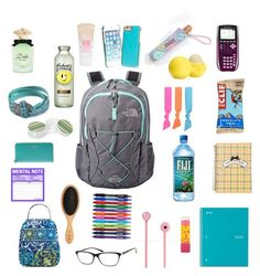 """""""What's in my backpack"""" by brookeeee78888 on Polyvore"""