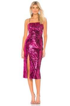 Shop for Jay Godfrey Maurice Dress in Bright Fuchsia at REVOLVE. Embellished Dress, Sequin Dress, Jay Godfrey, Black Lace Skirt, Sophisticated Outfits, Parker Black, Revolve Clothing, New Dress, Fashion Dresses