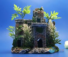 Aquarium ornament Castle Tree Hand Painted Detailed Fish Tank Decoration AK590