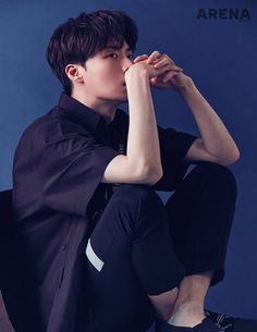 "Ahn Jae Hyun spoke with Arena about being ""greedy"" in his (he threw out a lot of stuff he had collected) and his wonderful wife, Gu Hye Sun. Ahn Jae Hyun, Asian Actors, Korean Actors, Korean Idols, Gu Hye Sun, Cinderella And Four Knights, Yong Pal, Most Handsome Actors, Lee Bo Young"