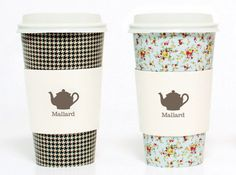 Mallard Tea Rooms.   Maybe we could use plain cups but with a pretty floral/vintagey wrap?