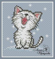 Бесплатные Авторские Схемы Cat Cross Stitches, Funny Cross Stitch Patterns, Cross Stitch Designs, Cross Stitching, Cross Stitch Embroidery, Hand Embroidery, Small Cross Stitch, Cross Stitch For Kids, Just Cross Stitch