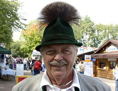 Man Wears Alpine Trachten Hat