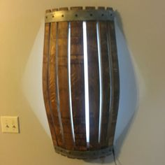 Wine Barrel Wall Sconce by AWineofaKind on Etsy