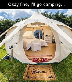 lotus belle 5 metre beautiful hand made glamping tents yurt tipi .Now this is camping. Camping Ideas, Camping Diy, Camping Glamping, Camping Survival, Camping Hacks, Luxury Camping, Camping Essentials, Camping Room, Camping Store