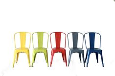 Custom Painted Tolix Style High Back Side Chair Color of your Choice