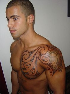 shoulder chest tattoos | Back to Post :Extreme Tribal Tattoos for Men