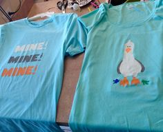 Seagull from Finding Nemo couple shirt (by   Brittany)