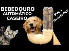BEBEDOURO AUTOMATICO CASEIRO DE TUBO PVC - CACHORRO, COMO FAZER BEBEDERO CASERO PERROS E MASCOTAS - YouTube Baby Dogs, Pet Dogs, Animals And Pets, Cute Animals, Cat Playground, Dog Feeder, Dog Houses, Diy Stuffed Animals, Dog Care