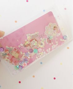 Whimsical gift card holder Confetti Shaker by Mushypinkstrawberryz Card making shakers Snailmail gifts glitter birthday party sequins pastel pocket letters   Project life