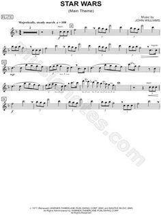 "star wars tin whistle sheet music | ""Star Wars (Main Theme) - Flute"" from 'Star Wars' Sheet Music (Flute ..."