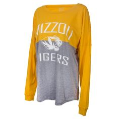Mizzou Tigers Juniors  Bright Gold Crew Neck Shirt bf75d3125