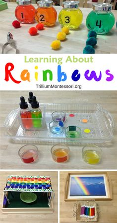 Learning about Rainbows in our Montessori Preschool Classroom