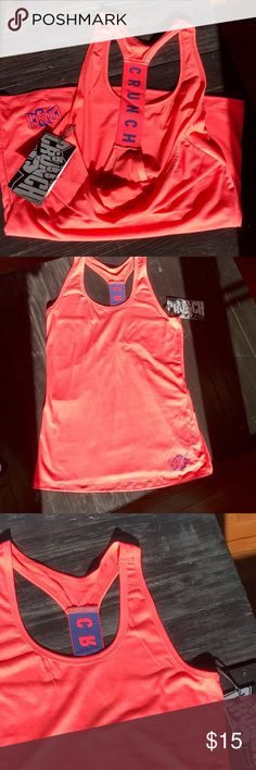 NWT CRUNCH workout top, sizes M & L PRICE IS FIRM. But feel free to Bundle & save !        ?Too expensive? Then add me to a 🛍 b u n d l e 🛍 and save!  Only REASONABLE offers accepted . I QUICKLY DECLINE OFFERs that are 40% below asking price   🙅🏻 N O T R A D E S 🙅🏻 Crunch Tops