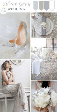 Silver Grey Wedding Inspiration - KnotsVilla