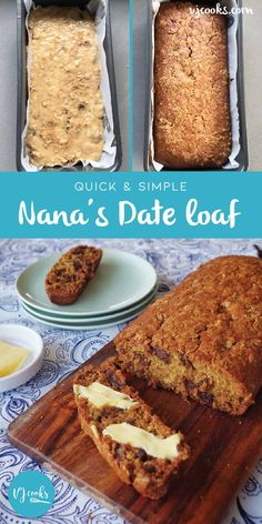 This Quick Date Loaf Recipe has one secret ingredient that makes it extra good! Watch the one minute video tutorial and learn how to whip it up today! Date Loaf, Date Bread, Quick Date, Easy Date, Loaf Recipes, Baking Recipes, Cake Recipes, Baking Ideas, Vegan Recipes